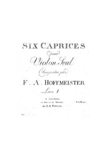 Hoffmeister F.A. - 6 Caprices for Violin Solo