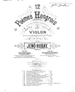 Hubay J. - 6 Poems for Violin and Piano Op.27