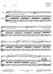 Ibert J. - La Marchande d'Eau Fraiche for Violin and Piano