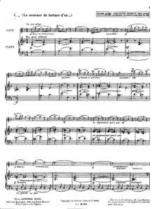Ibert J. - La Meneuse de Totues d'or for Violin and Piano
