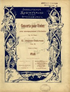 Jaques-Dalcroze E. - Concerto No. 1 for Violin and Orchestra Op.50