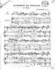 Joachim J. - 3 Etudes for Violin and Piano Op.5