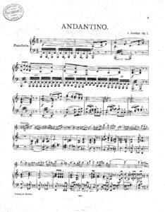 Joachim J. - Andantino and Allegro Scherzoso Op.1 for Violin and Piano
