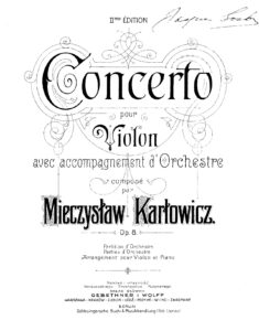 Karlovic M. - Concerto for Violin and Orchestra Op.8
