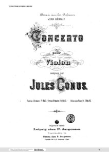 Konus J. - Concerto for Violin and Orchestra