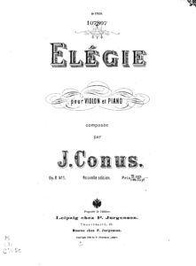 Konus J. - Elegy for Violin and Piano Op.2 №1