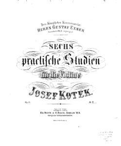 Kotek J. - Etudes for Violin Solo