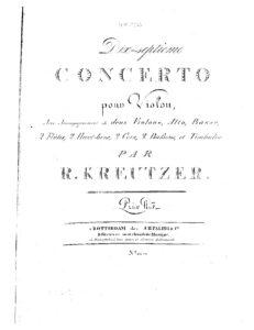 Kreutzer R. - Concerto For Violin №17 Solo and Orchestral Parts
