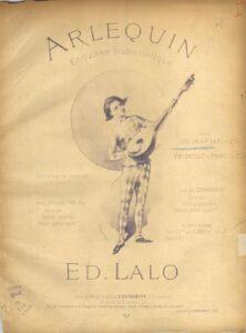 Lalo E. - Arlequin for Violin and Piano