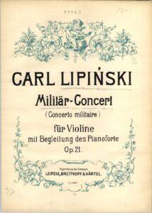 Lipinski C. - Concerto Militaire for Violin and Orchestra Op. 21