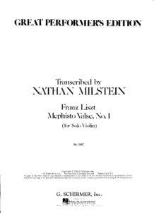 Liszt F. - Mephisto Valse №1 for Violin Solo