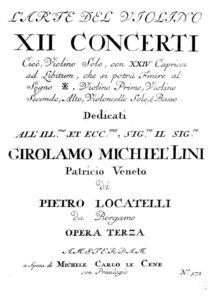 Locatelli P.A. - 12 Concerts for Violin Solo