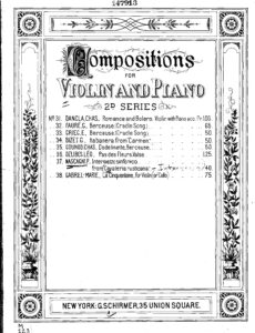 Mascagni P. - Intermezzo from Cavalleria Rusticana for Violin and Piano