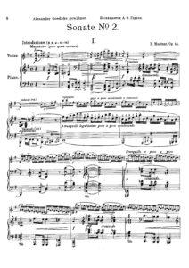 Medtner N. - Sonata №2 Op.44 for Violin and Piano