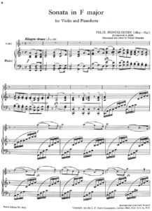 Mendelssohn F. - Sonata F-Dur for Violin and Piano