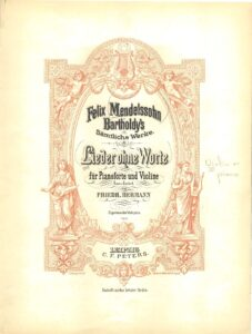Mendelssohn F. - Songs Without Words for Violin and Piano