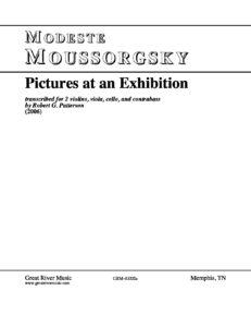 Moussorgsky M. - Pictures at an Exhibition for String Quartet and Double Bass