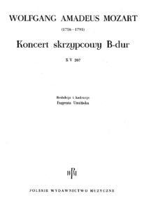 Mozart W.A. - Concerto for Violin №1 B-dur K.207 V.2
