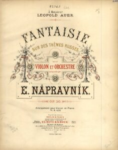 Napravnik E. - Fantasie on Russian Themes for Violin and Piano Op.30