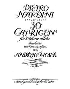 Nardini P. - 30 Caprices for Violin