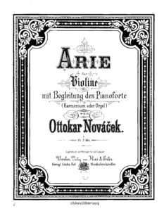 Novacek O. - Arie for Violin and Piano