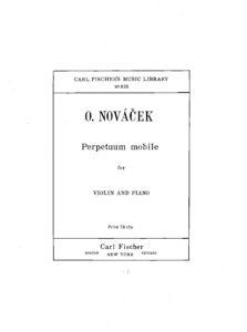 Novacek O. - Perpetuum Mobile for Violin and Piano V.2