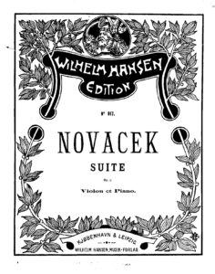 Novacek O. - Suite for Violin and Piano Op.7