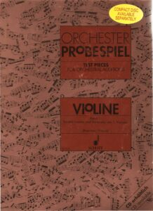 Orchester probespiel. Test Pieces for Orchestral Auditions Band 1