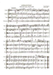 Paganini N. - Andantino in F-Dur for String Quartet