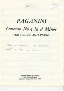 Paganini N. - Concerto №4 d-moll for Violin and Orchestra