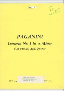 Paganini N. - Concerto №5 a-moll for Violin and Orchestra