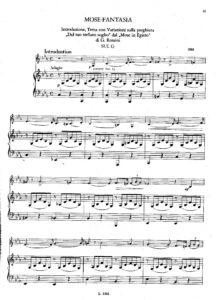 Paganini N. - Mose-Fantasia for Violin and Piano