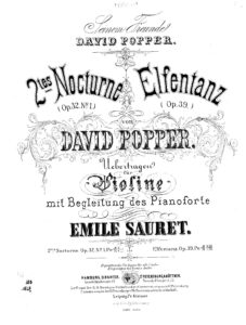 Popper D. - Dance of the Elves for Violin and Piano (Sauret)