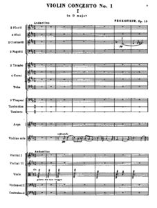 Prokofiev S. - Concerto №1 D-dur Op.19 for Violin and Orchestra Score (With Violin Part)