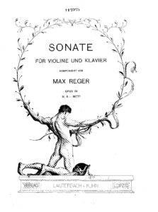 Reger M. - Sonata №5 for Violin and Piano Op.84