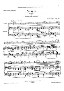 Reger M. - Sonata №8 for Violin and Piano Op.122