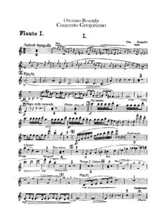 Respighi O. - Gregorian Concerto for Violin and Orchestra Score