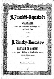 Rimsky-Korsakov N. - Concert Fantasy on Russian Themes for Violin and Orchestra Op.33 Score
