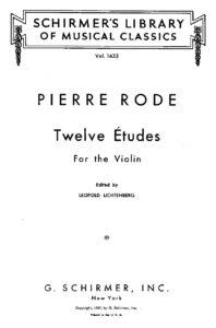 Rode P. - 12 Etudes for Violin