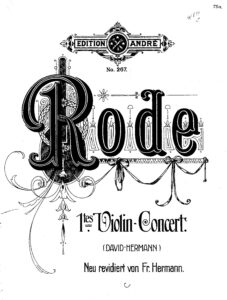 Rode P. - Concerto №1 d-moll for Violin and Orchestra V.1