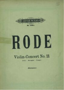 Rode P. - Concerto №11 D-Dur for Violin and Orchestra