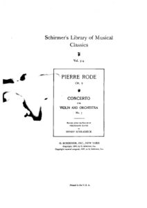 Rode P. - Concerto №7 a-moll for Violin and Orchestra V.2