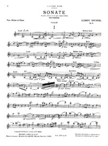 Roussel A. - Sonata №1 for Violin and Piano Op.11
