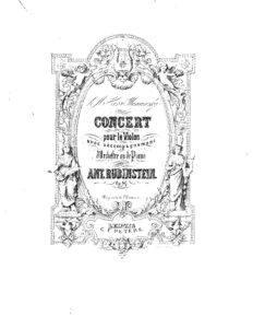 Rubinstein A. - Concerto for Violin and Orchestra Op.46 Score