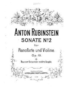 Rubinstein A. - Sonata №2 for Violin and Piano Op.19