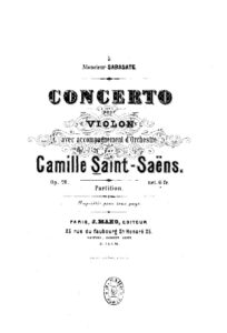 Saint-Saens C. - Concerto №1 Op.20 for Violin and Orchestra Score