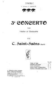 Saint-Saens C. - Concerto №3 Op.61 for Violin and Orchestra Score V.2