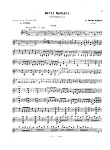 Saint-Saens C. - Dance Macabre for Violin and Piano Op.40 V.2