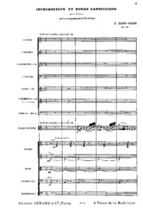 Saint-Saens C. - Introduction and Rondo-Capriccioso Op.28 for Violin and Orchestra Score