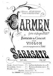 Sarasate P. - Carmen Concert Fantasy Op.25 for Violin and Orchestra V.2